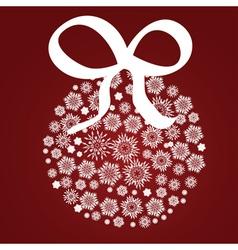 Xmas ball of snowflake vector image
