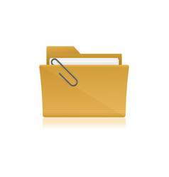Yellow file folder icon isolated on white vector