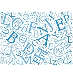 Background mosaic of letters vector image
