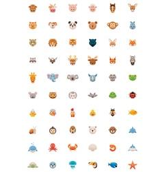 Big animals icon set vector image
