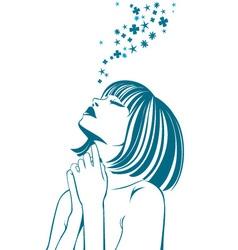 Feelings of the girl vector image vector image
