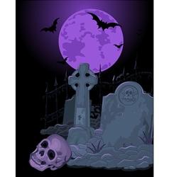 Halloween Tomb vector image vector image