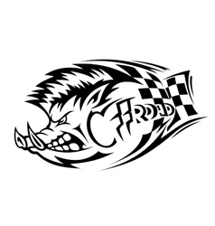 Offroad boar tattoo vector image vector image