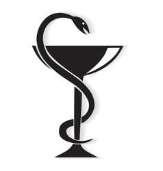 Pharmacy symbol medical snake vector