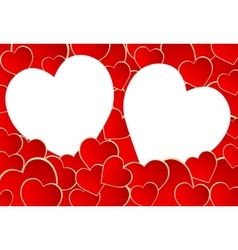 Frame of hearts vector image