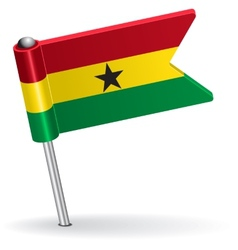 Ghana pin icon flag vector image