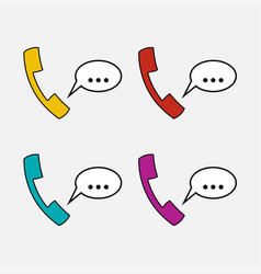 icons handset communication vector image