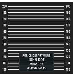 Police mugshot background vector image
