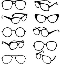 set black of sunglasses frames vector image