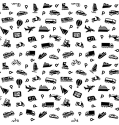transport icons wallpaper vector image vector image