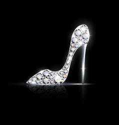 abstract silver jewelry shoe vector image vector image