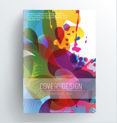 book cover design template with abstract colorful vector image vector image