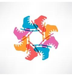 Circle of colored skates vector image vector image