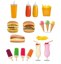 fast-food vector image vector image