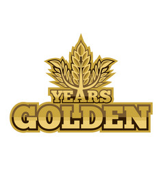 golden years vector image vector image