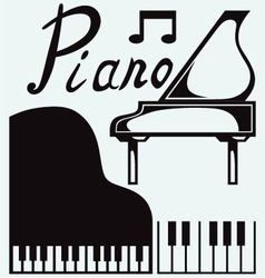 Grand piano vector image vector image