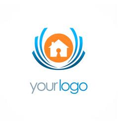 home secure emblem logo vector image