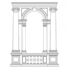 architectural element vector image vector image