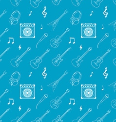 i love music Seamless pattern with guitars vector image vector image