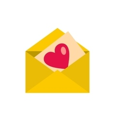 Love letter icon flat style vector image vector image