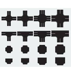 Road creation set vector image