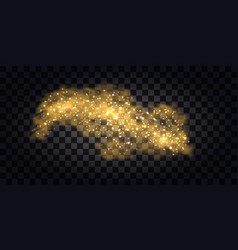 abstract gold smoke golden glitter wave vector image