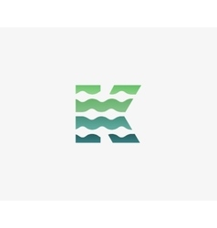 Abstract letter K logo icon design vector image