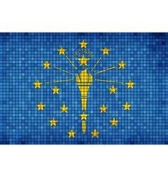 Abstract Mosaic flag of Indiana vector