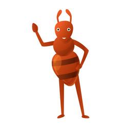 Ant kid icon cartoon style vector