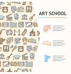 art school concept infographics banner vector image
