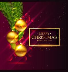 Awesome christmas festival seasonal greeting card vector