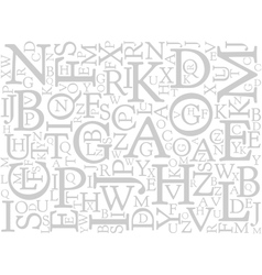 Background mosaic of letters vector