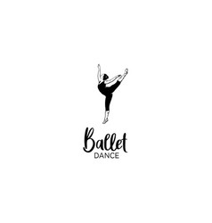 ballet dance hand drawn vector image
