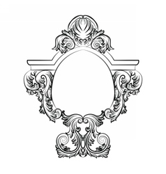 Baroque Rococo Exquisite Mirror frame decor vector image