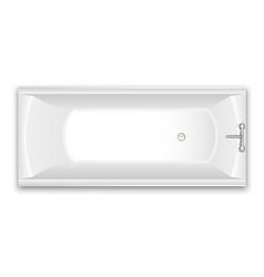 Bathtub isolated vector
