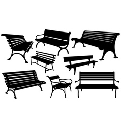 benches vector image