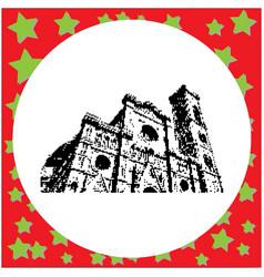 black 8-bit florence cathedral santa maria del vector image