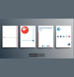blank minimal design background templates set for vector image