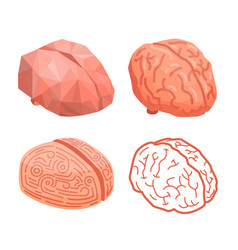 brain thinking concept background isometric style vector image