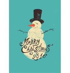 Calligraphic retro christmas greeting card vector