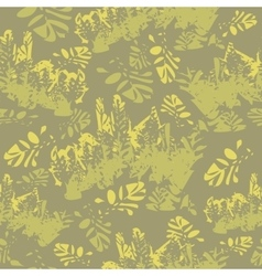 Camouflage floral seamless pattern vector image
