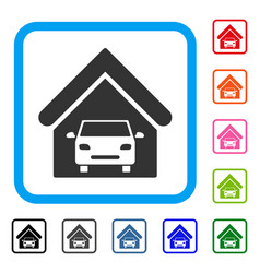 car garage framed icon vector image vector image
