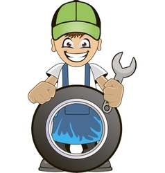 Car mechanic vector image