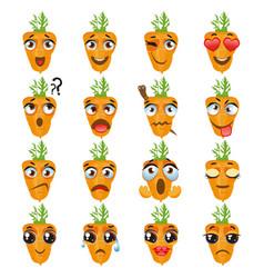 carrot emoji emoticon expression vector image