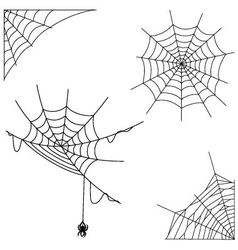 Cartoon spider web collection set vector