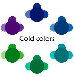 Cold colors - multicolored vector