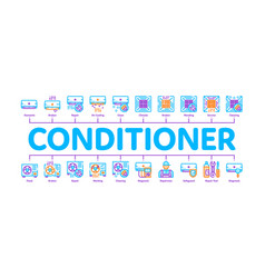 conditioner repair minimal infographic banner vector image