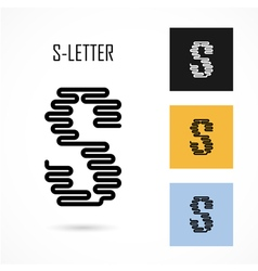 Creative S - letter icon abstract logo design vector image