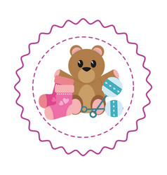 cute baby shower cartoon vector image