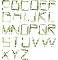 detailed tech alphabet vector image